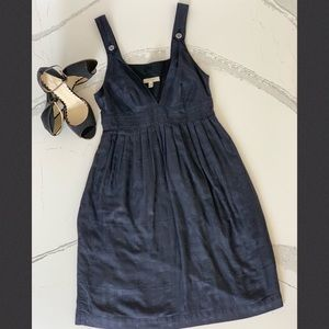 Burberry London Navy Tonal Cotton Dress US 2